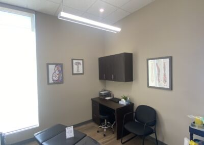 Chiropractic and Acupuncture Treatment Room